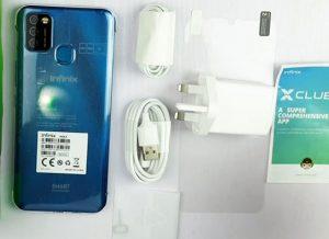 محتويات علبة Infinix smart 4