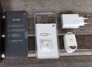 محتويات علبة Xiaomi Mi 10T